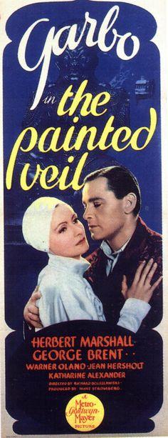 Greta Garbo The Painted Veil Poster Insert