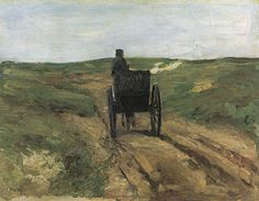 Cart in the dunes Max Liebermann