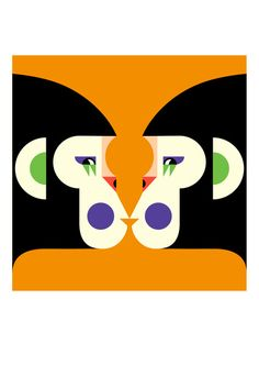 Malika Favre - Illustration for the Scanners latest album Love Is Symmetry Tiphaine-illustration  #monkey #albumcover