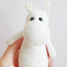 Moomintroll is a popular character that was created by Finnish illustrator and writer Tove Jansson. Use this free crochet pattern to make your own Moomin!