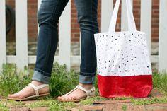 DIY West Elm Initial Tote Bags - Henry Happened