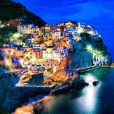Nighttime Cinque Terre views. Photo courtesy of theromanguy on Instagram.