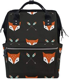 8e5f5d8559 Great for WOZO Cartoon Arrow Fox Face Multi-function Diaper Bags Backpack  Travel Bag Backpacks