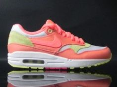 Nike Wmns Air Max 1 Melon Crush Hot Punch White Yellow Diamond
