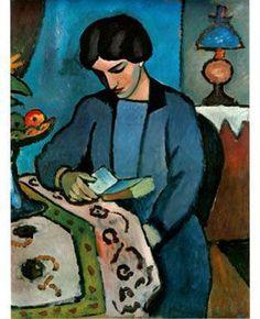 """""""Blue girl #reading"""", August #Macke"""