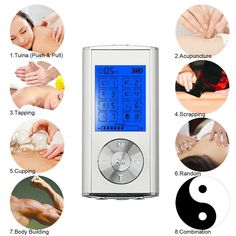 Trend Mark New Portable Muscle Stimulator Body Massager Phone Connection Acupuncture Back Neck Tens Therapy Electric Massage Pad Relaxation Invigorating Blood Circulation And Stopping Pains Massage & Relaxation Beauty & Health