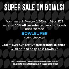 Super Sale on Bowls! Selected serving bowls are 35% off! http://noritakechina.com/35-off-selected-serving-bowls.html?p=all