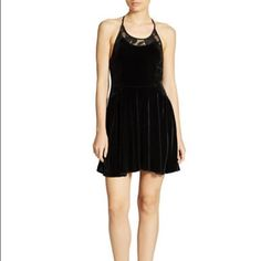 Free People Lace & Velvet Minidress Free People Lace & Velvet  Black Minidress. Size S. Free People Dresses Mini