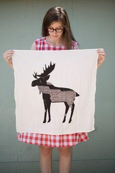 Moose Tea Towel, Printed with Eco Friendly Inks