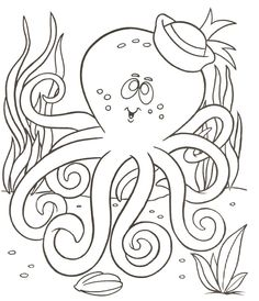 Octopus Coloring Page Printable