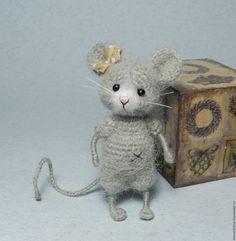 Купить МК Мышка вязаная в интернет магазине на Ярмарке Мастеров