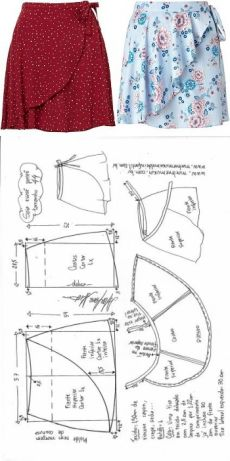 Vestido Chamesier manga longa – DIY – molde, corte e costura – Marlene Mukai Skirt Patterns Sewing, Sewing Patterns Free, Clothing Patterns, Skirt Sewing, Pattern Sewing, Wrap Pattern, Diy Clothing, Sewing Clothes, Fashion Sewing