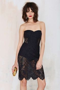 For Love & Lemons Midnight Lace Dress - Black - Going Out   Body-Con   LBD   For Love and Lemons   Lace Dresses
