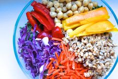 New Year's Resolution Bowl – Colorful Detox Salad Recipe Detox Recipes, Salad Recipes, Vegan Recipes, Cooking Recipes, Detox Meals, Fast Recipes, Simple Recipes, Healthy Salads, Healthy Eating
