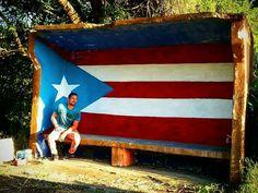 Por Hector PR. Orgullo boricua. Proyecto: 78 pueblos y 1 bandera Ubicación: Yauco, Bo. Quebradas, Sector LA CRUZ, carr. 375. Puerto Rico Pictures, School Is Over, Us Islands, Puerto Rican Flag, Puerto Rican Cuisine, Puerto Rico History, Puerto Rican Culture, Enchanted Island, Puerto Ricans