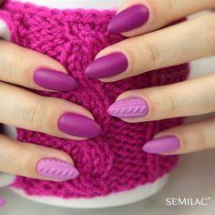 Semilac by Maxineczka Peculiar Plum i 504 Magenta Mood) Magenta Nails, Elegant Nails, Health And Beauty, Nailart, Nail Designs, Girly, Claws, Moth, Plum