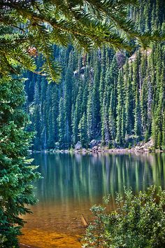 Beaver Lake seen from the Royal Elk Hiking Trail, Beaver Creek, Colorado...who is going with me??