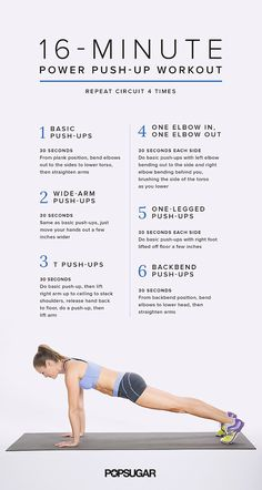 Get your lower body burning with this inner- and outer-thigh workout, followed by this intense power push-up circuit workout.