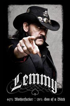 """Poster """"Lemmy Kilmister - Mofo"""" dei Dimensioni: x 61 cm. Hard Rock, Eddie Clarke, Led Zeppelin, Lemmy Kilmister, Musik Genre, El Rock And Roll, Rock Y Metal, Heavy Metal Music, Thats The Way"""