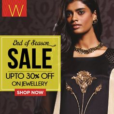 Let your jewellery do the talking. Buy trendy accessories today, the #Unlikeboring #WSale is still on! #eoss #sale #ethnic #Wear #Indian #fashion #style #jewellery #designer #design #contemporary #kurta #kurti #india #chunni #dhupatta #drape #arm #neck #necklace #earrings #churidar #jeans #plazzos #fashionbottoms