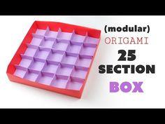 Origami 25 Section Box Divider Tutorial ♥︎ DIY Storage ♥︎ - YouTube