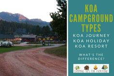 What can you expect at the different types of KOA campgrounds? We break it down for you- KOA Journey, KOA Holiday & KOA Resorts. Rv Camping Tips, Camping For Beginners, Tent Camping, Rv Tips, Pool Activities, Travel Camper, Holiday Resort, Camping With Kids, Cabin Rentals