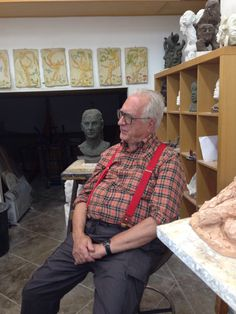Peter Rockwell in his studio. Rome, Italy. 2014