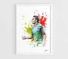 Gianluigi Buffon (Juventus FC) - A3 Art Prints of the Original Watercolors