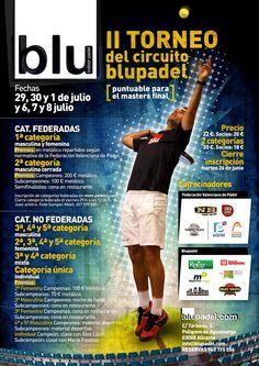 Blupadel. Club de Padel Indoor. Poster A2. Alicante. 2012.