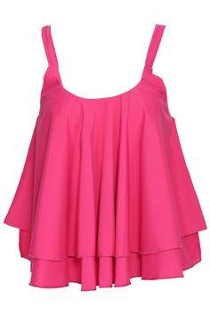 ROMWE | ROMWE Asymmetric Layered Rose Camisole Vest, The Latest Street Fashion