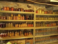 canning racks pantry - Just like Grandma's house