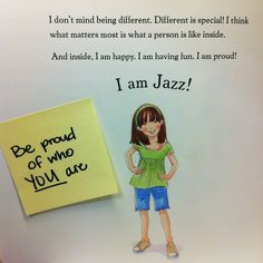 Jazz has learned that it's important to be true to herself. This year, we hope that you are proud of who YOU are, just like Jazz! Check out this #TeachableMoment in I AM JAZZ by Jessica Herthel and Jazz Jennings and illustrated by Shelagh McNicholas.