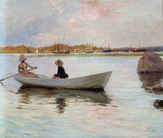 Girls in a Rowing Boat / Tyttöjä Veneessä (1886)