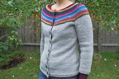 Ravelry: Project Gallery for #22 Garter Yoke Cardigan pattern by Melissa LaBarre