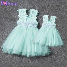 Buy Mom Girl Graceful Tulle Summer Dress online with cheap prices and discover fashion at Popreal.com.