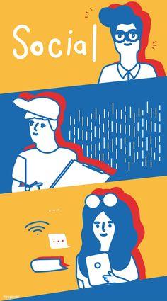 People vector Line Illustration, Graphic Design Illustration, Character Illustration, Doodle Characters, Leaflet Design, Book Design Layout, Graphic Design Posters, Illustrations And Posters, Presentation Design