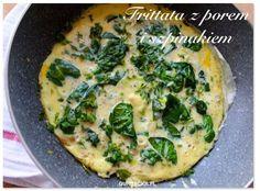 Frittata ze szpinakiem czyli królewskie śniadanie w 10 minut (1 kawałek ma tylko 120 kcal)