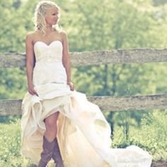 I will be making a picture in my wedding dress and cowgirl boots for sure! :)