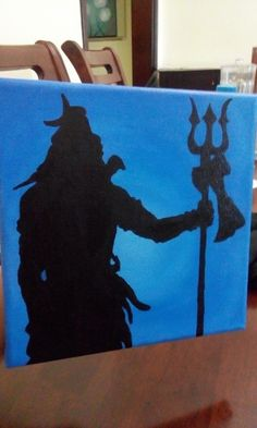 Lord Shiva Acrylic Paints Silhouette