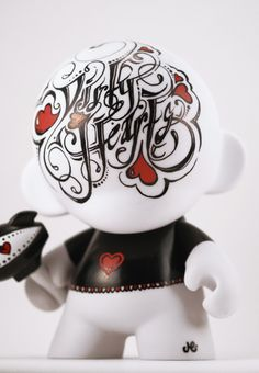 "Hand Painted Vinyl Toy - ""Dirty Hearts"" by The Graphix Chick , via Behance"