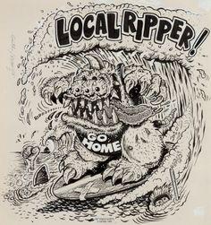 "Original Comic Art:Illustrations, Ed ""Big Daddy"" Roth and Jeff Gaither ""Local Ripper"" T-ShirtIllustration Original Art (Roth, 1988).... Image #1"