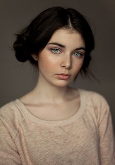 ♀ Woman portrait face with freckles Sonia test by Anastasia Galaktionova