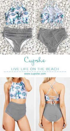 Live life on the beach, live life by your own feelings. Cupshe Cute Succulent Plants Floral Bikini Set full of all awesome elements you want. Pick it up for beach life.