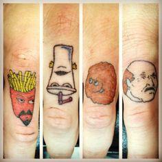 aquateen finger tatts