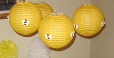 Bumble Bee Party Bee Lanterns via- The Creative Party Place