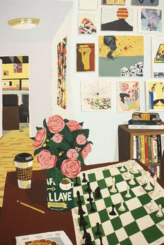 From Halsey McKay Gallery, Hilary Pecis, Harper's Game Acrylic on canvas, 60 × 48 in Fun Illustration, Botanical Illustration, Modern Wall Art, Contemporary Art, Room Of One's Own, Ipad Art, Art Party, Texture Art, Looks Cool
