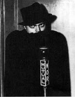 Orson Welles in a publicity still for The Shadow radio program.