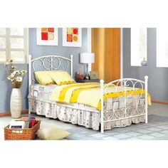 Shop for Furniture of America Bridelle Princess Style Metal Twin Bed. Get free delivery On EVERYTHING* Overstock - Your Online Furniture Outlet Store! Get in rewards with Club O! Twin Platform Bed, Kids Bedroom Furniture, White Furniture, Furniture Ads, Furniture Movers, Furniture Outlet, Online Furniture, Modern Furniture, Bedroom Ideas