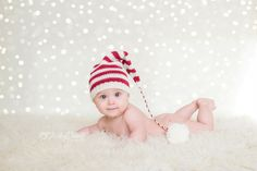Indoor holiday mini session, baby Christmas photo, twinkle lights overlay, indoor baby Christmas photo, Ashley Danielle Photography: Seattle Child Photographer | Maple Valley, WA