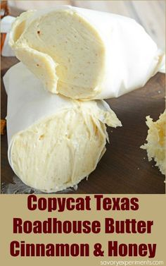 Food Inspiration – Cinnamon Butter (Texas Roadhouse Butter) Food Rings Ideas & Inspirations 2017 - DISCOVER Copycat Texas Roadhouse Butter- Whipped Cinnamon Honey Butter, this flavored butter will. Flavored Butter, Homemade Butter, Butter Recipe, Whipped Butter, Texas Roadhouse Butter, Texas Roadhouse Steak Seasoning, Copycat Recipes Texas Roadhouse, Longhorn Steakhouse Recipes, Pineapple Benefits